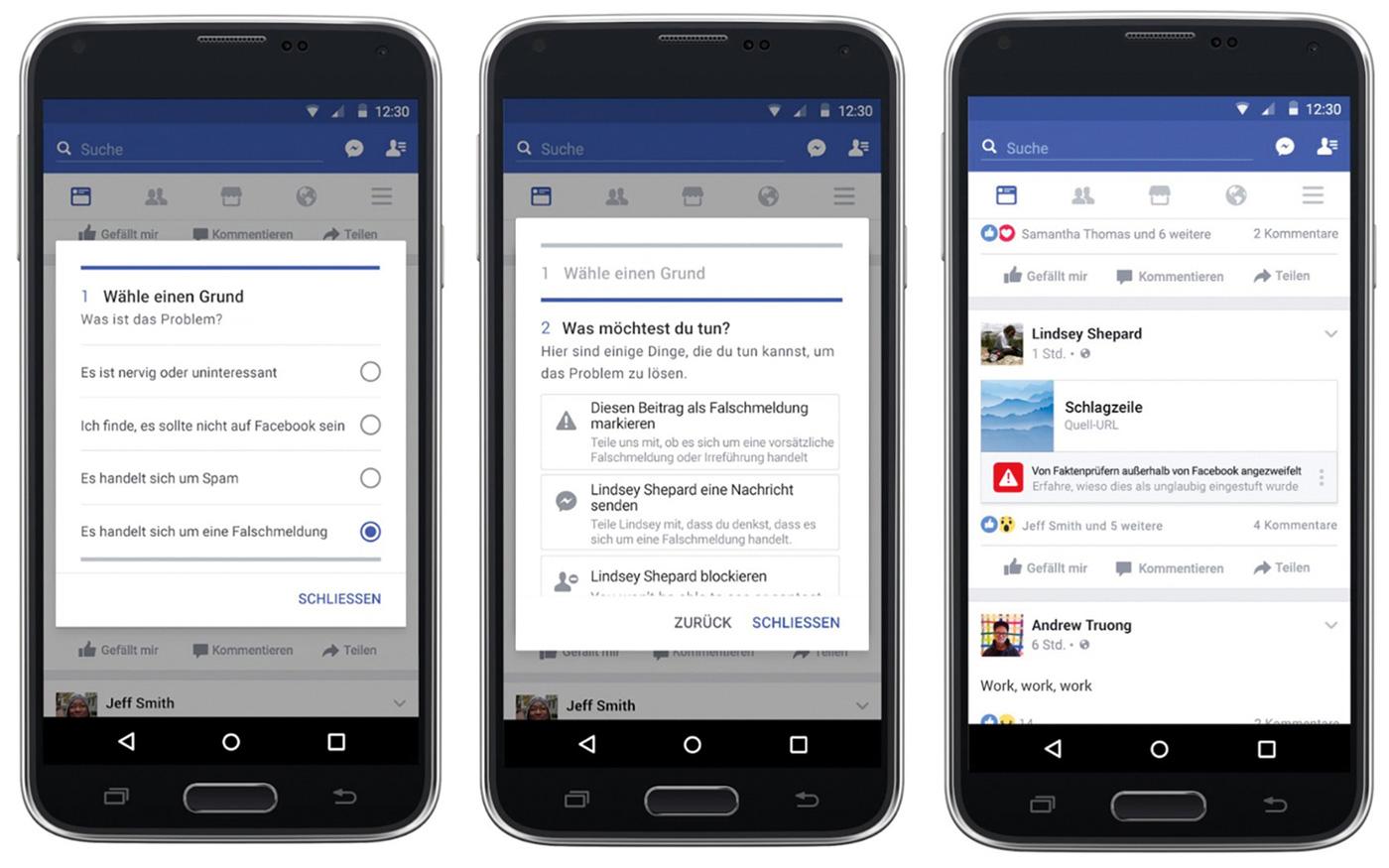 Facebook Maßnahme gegen Fake-News