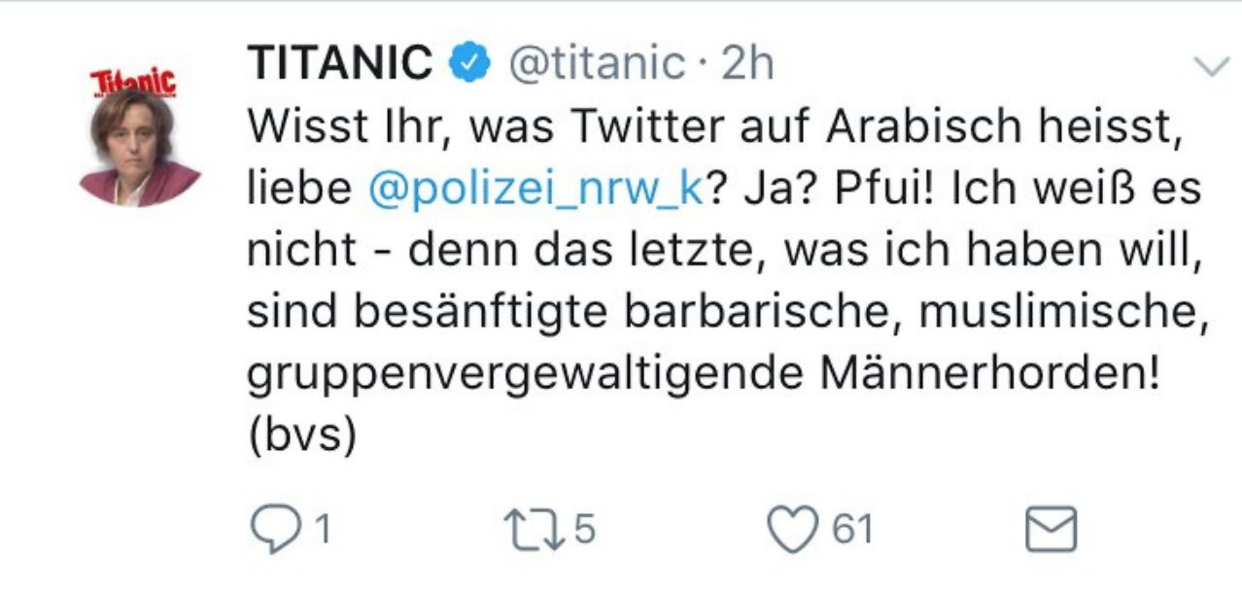 Titanic Tweet