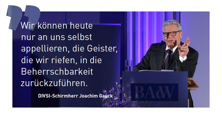 Zitat DIVSI-Schirmherr Joachim-Gauck